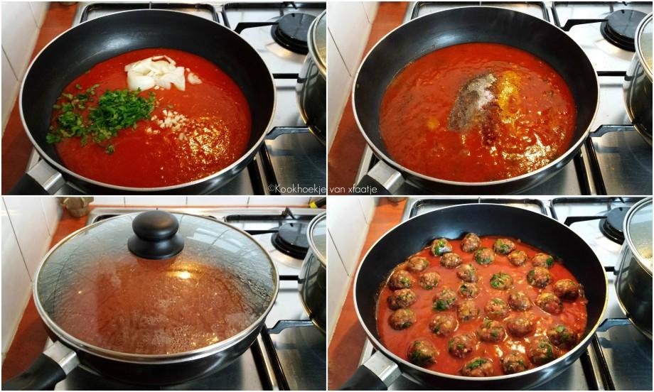 Gehaktballetjes in een tomatensausje1