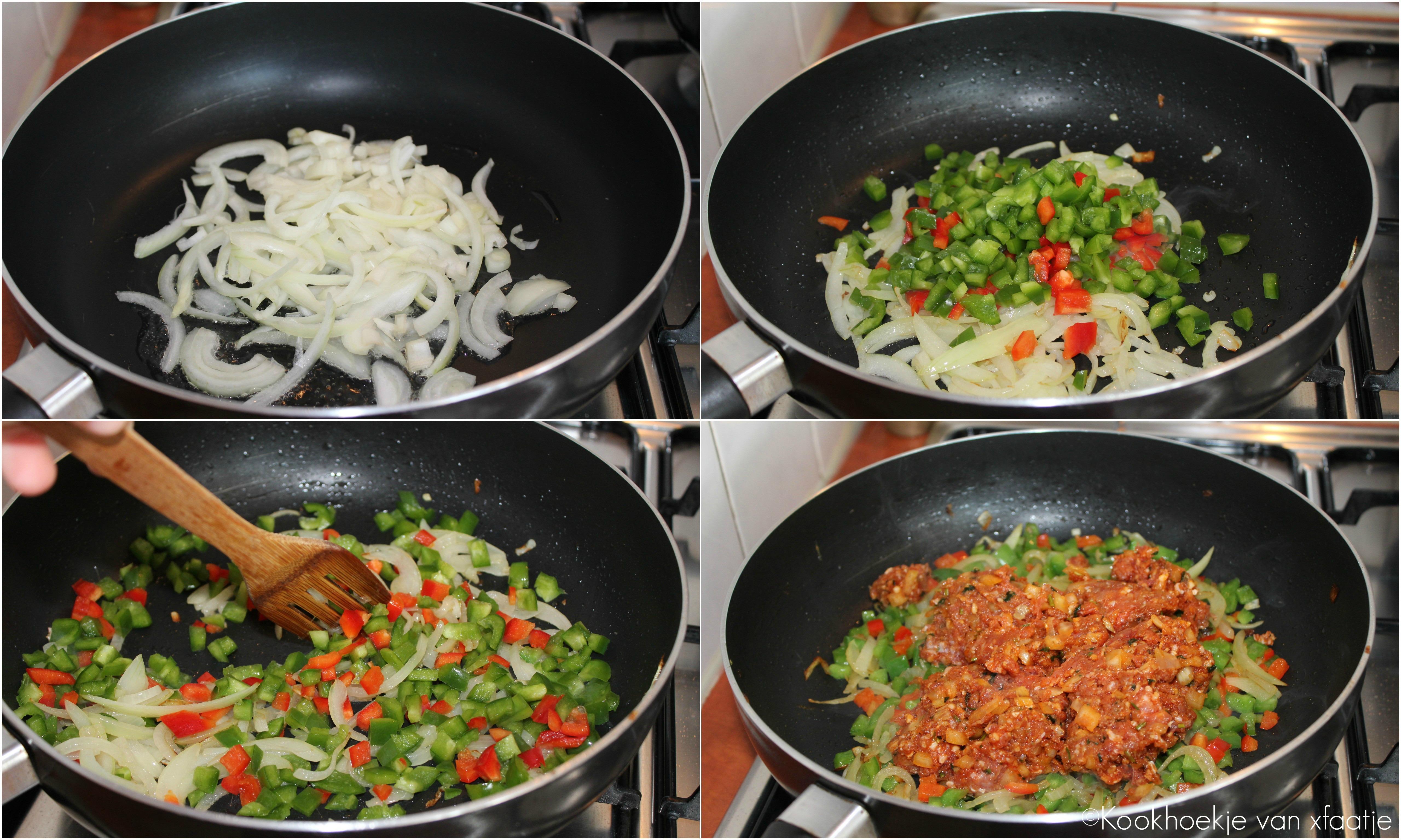 Tortillas maken gehakt